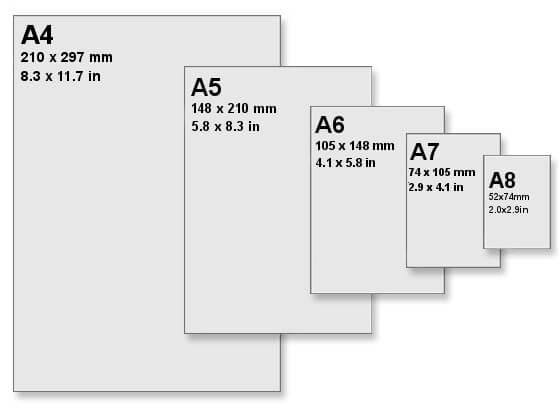 Размер на хартиите за печат