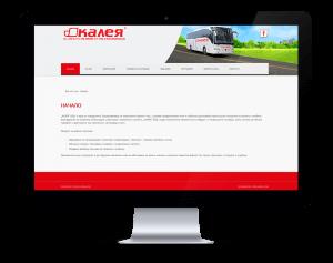 Изработка на сайт за автобусна фирма